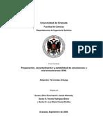 Preparación, caracterización y estabilidad de emulsiones y microemulsiones O-W