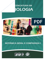 FTC - BOTÂNICA GERAL E COMPARADA I - FTC - EAD
