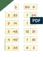 Jogo-dominó divisores e multiplos