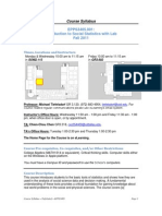 UT Dallas Syllabus for epps3405.001.11f taught by Michael Tiefelsdorf (mrt052000)