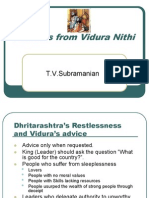 Lessons From Vithur Neethi