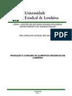 TCC -PRDUÇÃO E CONSUMO DE ORGÂNICOS EM LONDRINA