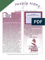 Aug 23, 2011 Fellowship News