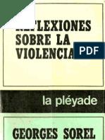 Sorel, Georges - Reflexiones Sobre La Violencia