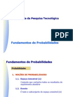 PCC 5746 Fundamentos de Probabilidades