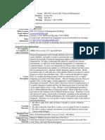 UT Dallas Syllabus for fin6301.002.11f taught by Yexiao Xu (yexiaoxu)
