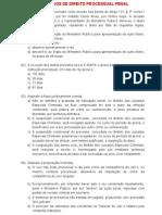 Exercicios Direito Processual Penal