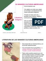 Literatura de Las Grandes Culturas American As