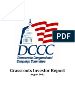 DCCC Grassroots Investor Report August 2011