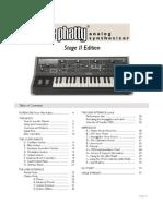 Moog Little Phatty Stage II - Manual