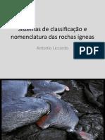 AULA Sistemas de classificação de rochas ígneas