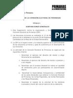 Reglamento Comision Electoral MUD