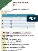 Aula 4 – Dados absolutos e dados relativos