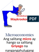 Introduction in Microeconomics