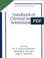 Handbook of Criminal Justice Administration