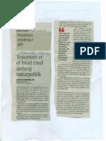 Test Center Er Et Brud med årelang naurpolitik. Politiken 12.08.2011