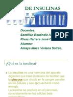 TIPOS DE INSULINAS