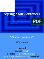 Styling Your Sentences
