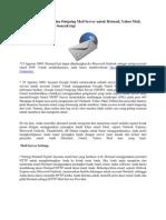 Pengaturan Incoming Dan Outgoing Mail Server Untuk Hotmail