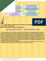 Liuteria Guitar Wiring - Hum Bucking Pickups, Modifications, Guitar Effects Schematics