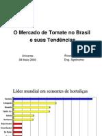 O Mercado de tomate no Brasil, e suas tendências.
