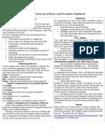 Policies and Procedures for Parents