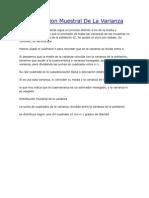 Distribucion Muestral de La Varianza
