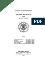 Eliminasi Gauss & Metode Cramer
