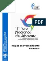 3. 11º FNJ - Reglas de Procedimiento