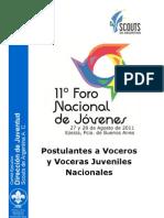 5. 11º FNJ - Postulantes a Voceros y Voceras Juveniles