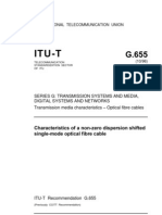 Norma ITU G655 Cables de Fibra Optica Monomodo