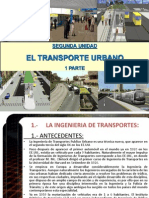 SEGUNDA Y TERCERA  TRANSPORTE URBANO