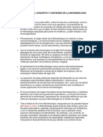 INTRODUCCIÓN AL CONCEPTO Y CONTENIDO DE LA MICROBIOLOGÍA