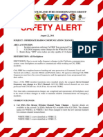 CWCG Safety Alert