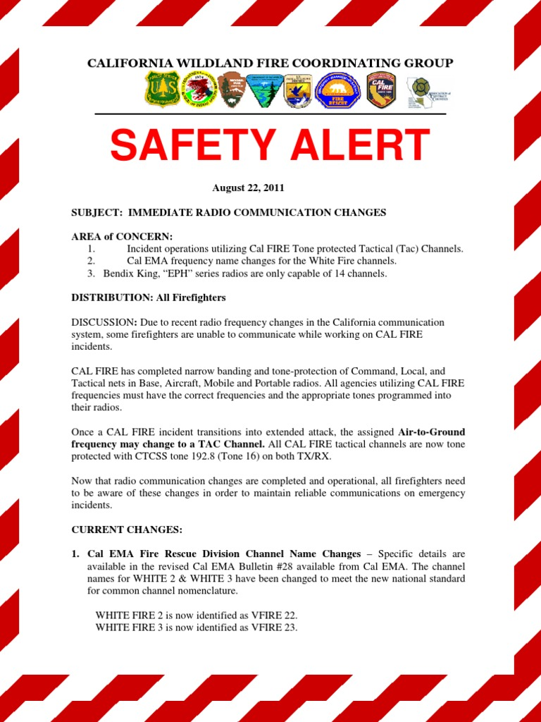 CWCG Safety Alert | Firefighter | Public Safety