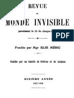 Revue Du Monde Invisible (1907-1908)