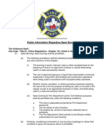 Open Burning Public Informational Handout