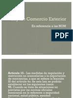Ley de Comercio Exterior NOMs