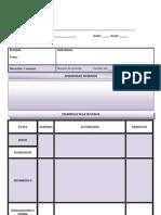 Formato de La Planeacion Didactica Para Secundaria 2011-2012
