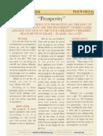 """Psalm 128 v5-6, """"Prosperity"""""""