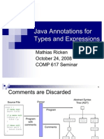 Java Annotations for Types and Expressions