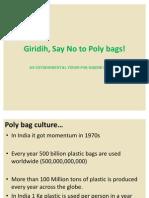 Giridih, Say No to Poly Bags