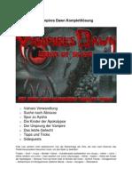 Komplettloesung Vampires Dawn Reign of Blood