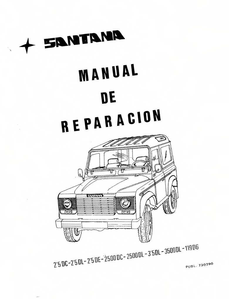 Manual Santana 2500, Land Rover Santana, 2.5,2500,seccion_0