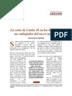 La Corte de Carlos II en Los Diarios de Un Embajador Del Sacro Imperio. Carlos Seco Serrano