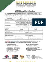 PAL Polyurethane Panel Spec 31102008