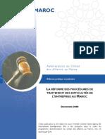 La Reforme Des Procedures de Traitement Des Difficultes de l Entreprise Au Maroc