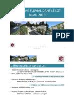 bilan 2010 du tourisme fluvial dans le Lot