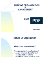 Unit 1 - Nature of Organization & Management