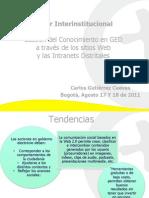 Gestion del Conocimiento en GED a traves de los sitios Web y las Intranets Distritales